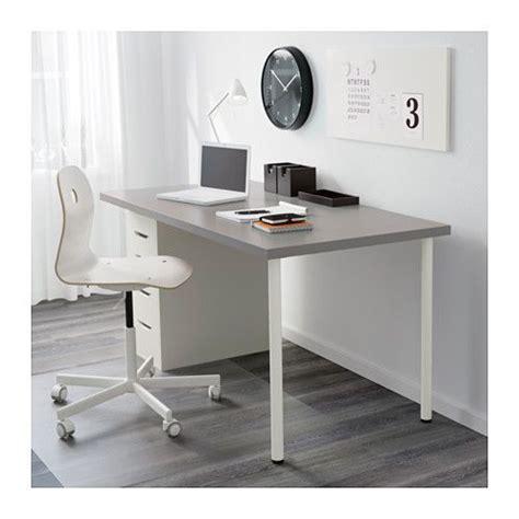 linnmon alex table grey white grey white 150x75 cm