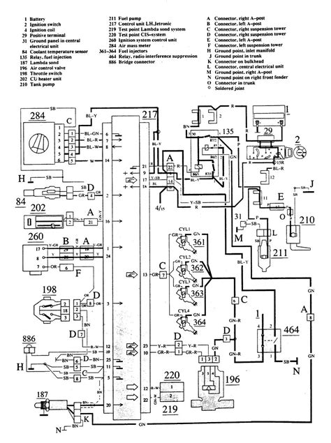volvo 740 1988 1989 wiring diagrams fuel controls