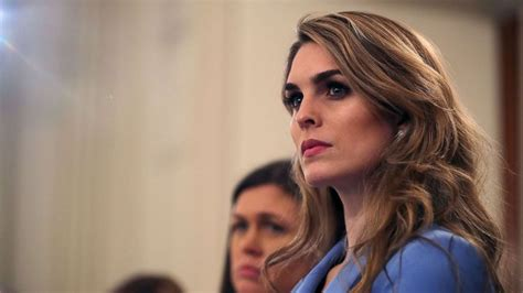 Top Dem: Hope Hicks refuses to answer questions about time ...