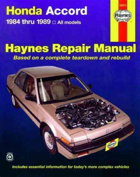 car engine manuals 1989 honda civic free book repair manuals honda accord 1984 1989 haynes service repair manual sagin workshop car manuals repair books
