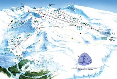 mount parnassos ski resort guide location map mount
