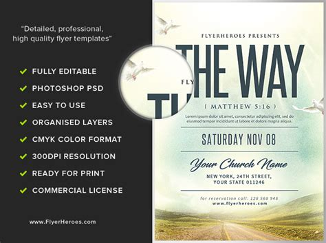 The Way Church Event Flyer Template