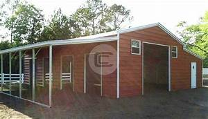36x21 a frame carolina barn boxed eave metal barn structure for Buy a horse barn