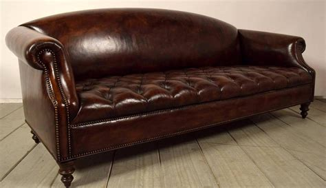 tufted chesterfield sofa vintage chesterfield tufted leather sofa at 1stdibs