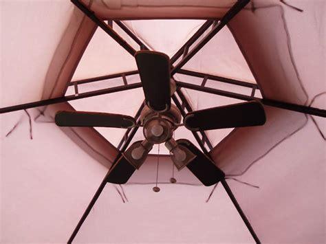 outdoor plug in ceiling fan for gazebo gazebo fan bloggerluv com