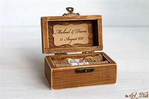 ring bearer box wedding ring box personalized ring box With personalised wedding ring box