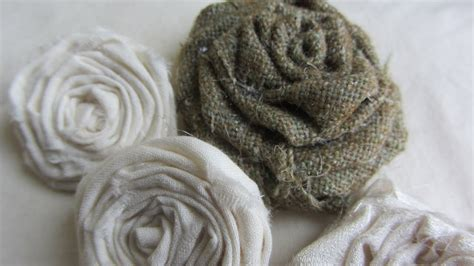 adorable vintage shabby chic rolled fabric roses tutorial youtube