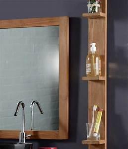 Design installation etagere murale teck salle de bain et for Salle de bain design avec hottes décoratives murales