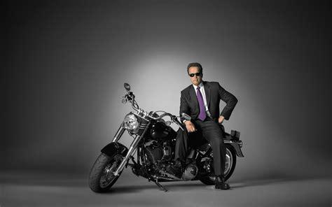 Arnold Schwarzenegger With Harley Davidson