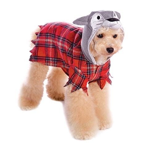 small dog christmas outfits werewolf plaid dog hoodie by dogo with same day shipping