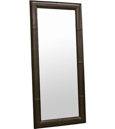 floor mirror leather bi cast leather floor mirror in framed mirrors