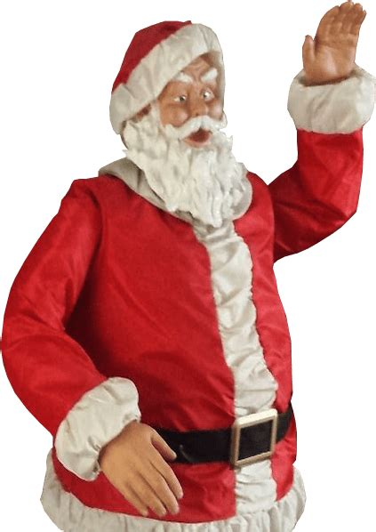father christmas waving transparent background  png