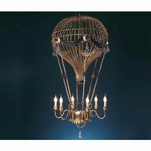 Lustre En Fer Forgé : lustre montgolfi re g ante en fer forg et pampilles de ~ Dailycaller-alerts.com Idées de Décoration