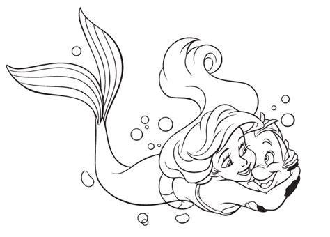 Kolorowanka Mała Syrenka, Malowanki Dla Dziewczynek Disney