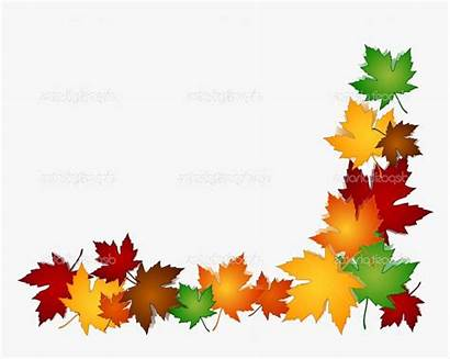 Fall Clipart Border Autumn Harvest Backgrounds Transparent