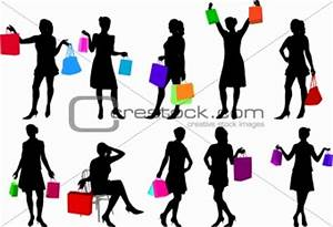 Image 3679014: shopping girls silhouettes from Crestock ...
