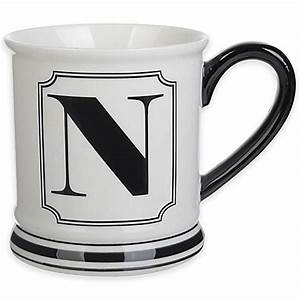 buy formations block letter quotnquot monogram mug from bed bath With monogram letter mug