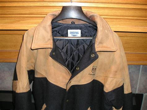 sell official mopar dodge ram leather  wool jacket coat