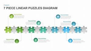 7 Section Linear Puzzles Diagram Powerpoint And Keynote
