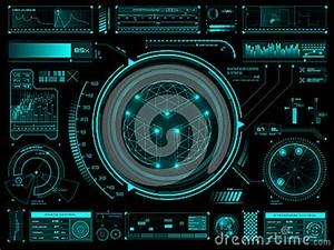 Futuristic Touch Screen User Interface HUD Stock Vector ...