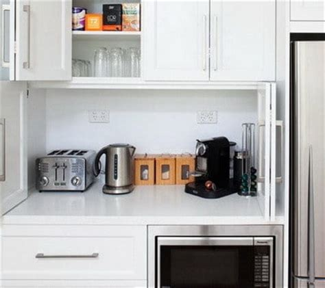 kitchen appliance storage cabinets 40 appliance storage ideas for smaller kitchens 5011