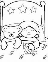 Sleeping Boy Child Coloring Bear Pages Drawing Sleep Cartoon Familycorner Getdrawings Sketch Night Again Bar Looking Case Don Template Corner sketch template