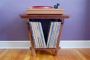 Meuble Platine Vinyle Vintage : petit meuble pour vinyles et platine ~ Teatrodelosmanantiales.com Idées de Décoration