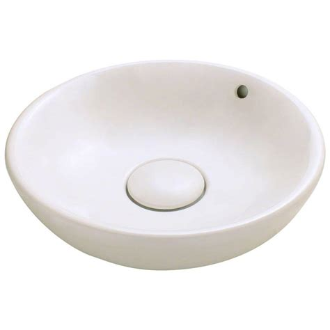 polaris sinks porcelain vessel sink in bisque p003v b