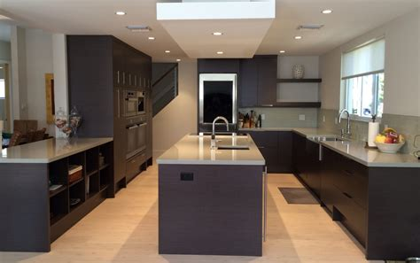 Miele Kitchen Cabinets by Contemporary Kitchen Gray Oak Cabinets With Miele Wall