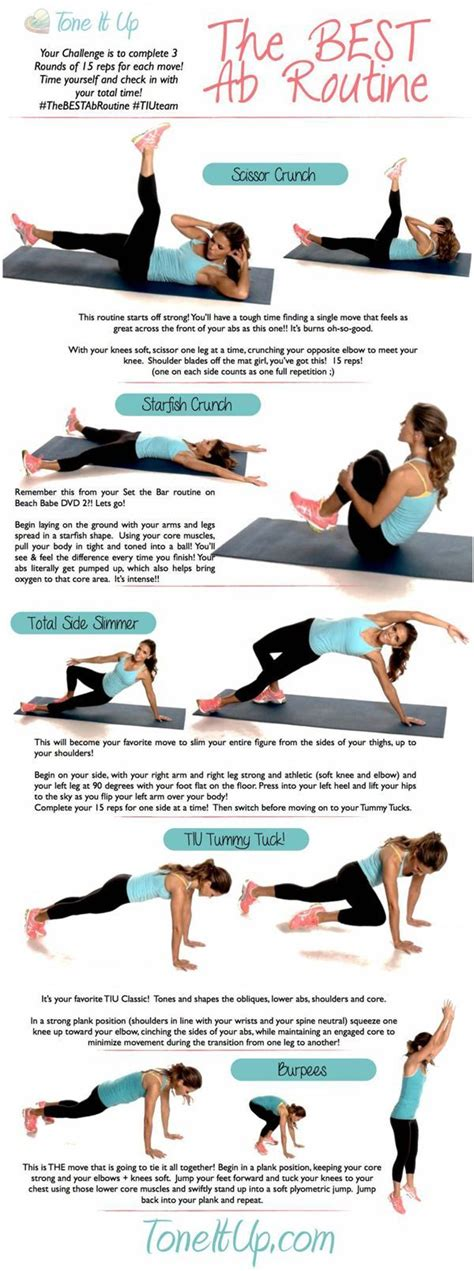 Best Ab tone it up the best ab workout routine best ab routine