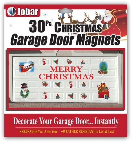 magnetic christmas decorations  garage doors
