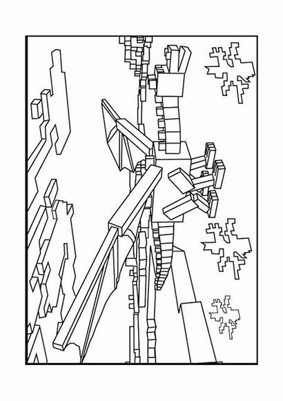 Coloring Pages Minecraft Sword Printable Sheets