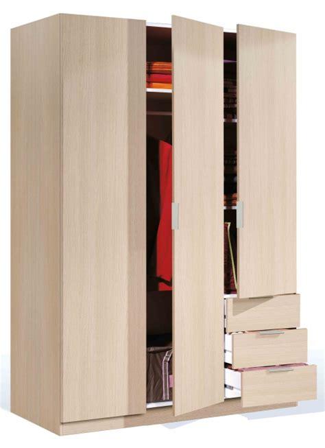 armarios de 3 puertas armario low cost 3 puertas color roble 180x121x52