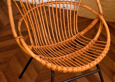 chaise en rotin but vintage rattan chair 50s 1950 vintage rattan chairs