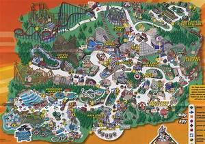 Six Flags America : park maps, informations, photos ...