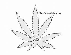 drawn cannabis leaf stencil pencil and in color drawn With weed leaf template