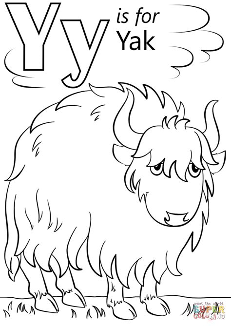 letter    yak super coloring coloring abc lettering coloring pages abc coloring