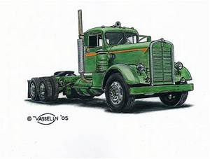 Kenworth truck drawing by who515 on DeviantArt