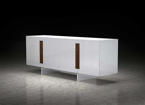 White Lacquer Sideboard ML Britton   Modern Buffets Stations
