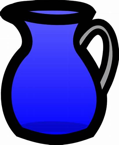 Pitcher Water Clipart Jug Clip Drawing Cup