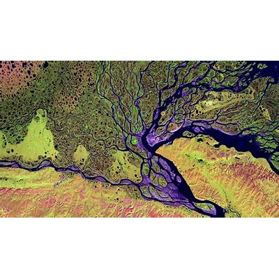 The Lena Delta Wildlife Reserve in Siberia Russia (© USGS