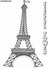 Coloring Eiffel Tower Colouring Paris Printable Sheets Drawing sketch template
