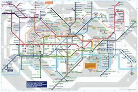 London with Tube Stations Map  London Underground Stations
