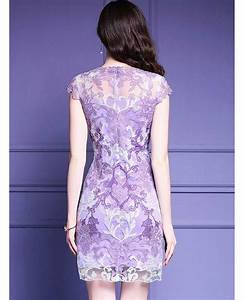 high quality purple embroidery bodycon dress for wedding With bodycon wedding guest dresses