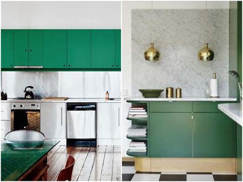 cuisine gris et vert carrelage cuisine vert et blanc
