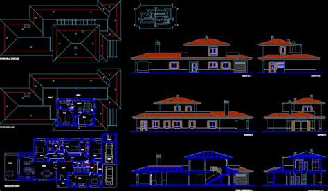 villa layout plans en autocad descargar cad  kb