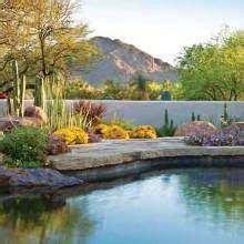 southwest backyard garden oasis water flows