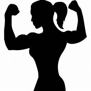 Female Bodybuilder Wall Sticker Athletics Wall Art