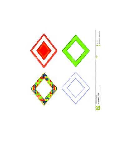 Diamond Shape Clipart Shaped Frames Colorful Four