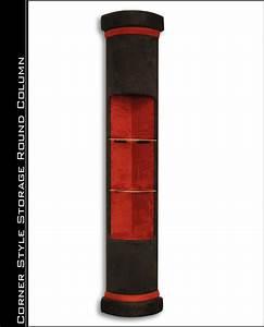 Round Corner Storage Style Home Theater Column